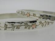 Flower pattern bangles