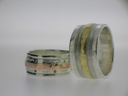 Gold banded rings