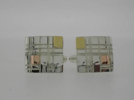 Mondrian style cufflink