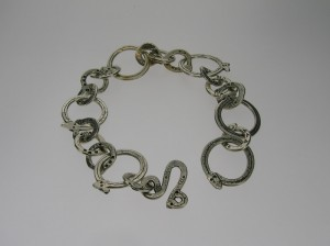 Sterling silver snake link chain