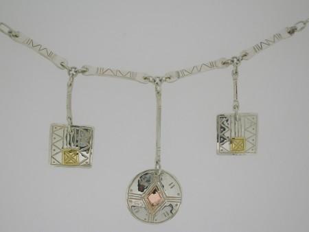 Three Piece Long Drop Necklace