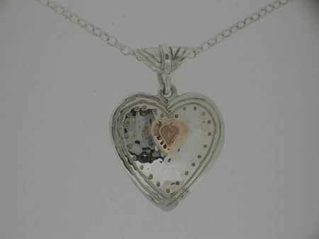 Two Piece Heart Pendant