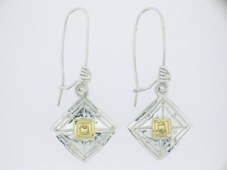 Rotated Square Drop Earrings