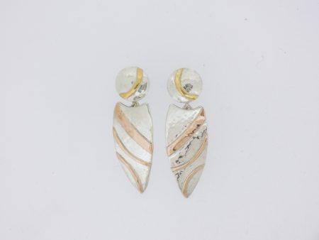 Two-piece Shield Drop Earrings