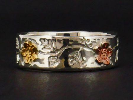 Mayflower leaf ring